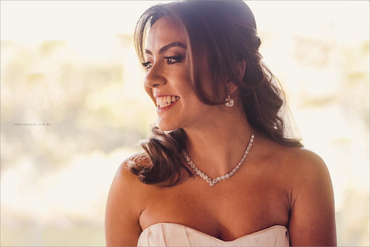 retrato da noiva antes de ir para o casamento