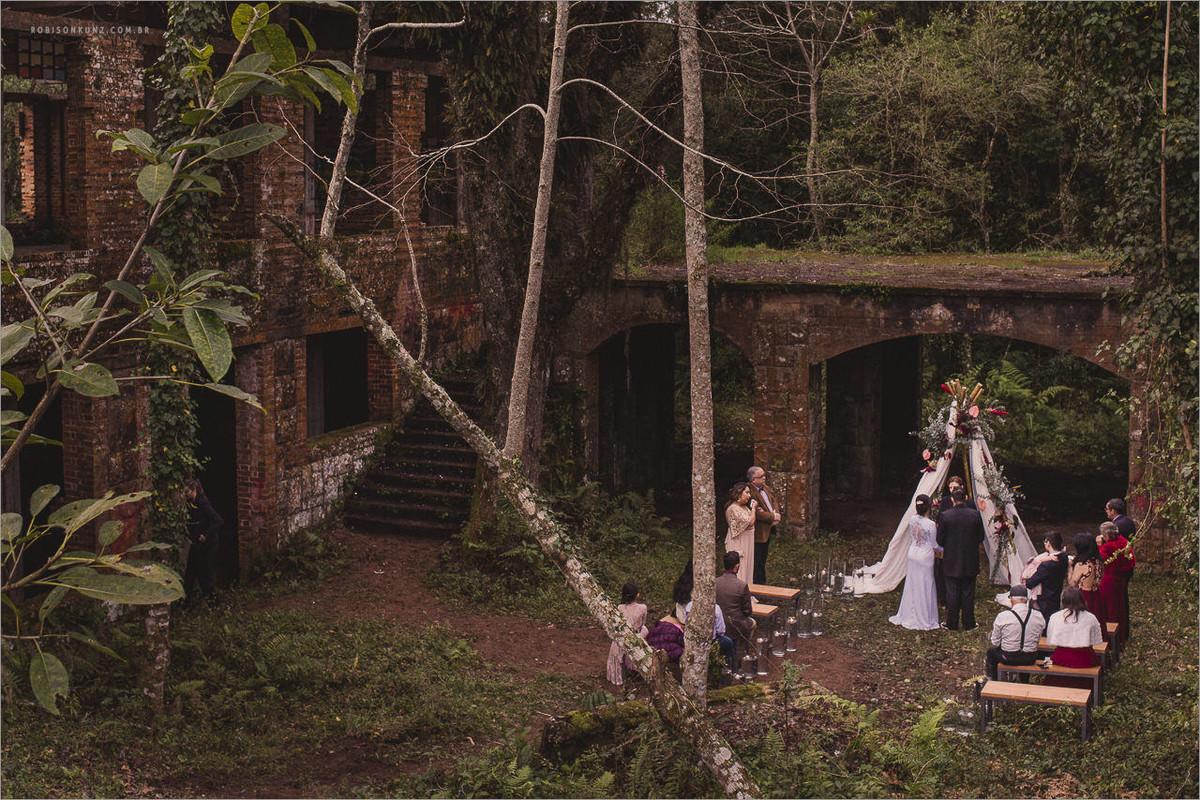 casamento lugar abandonado