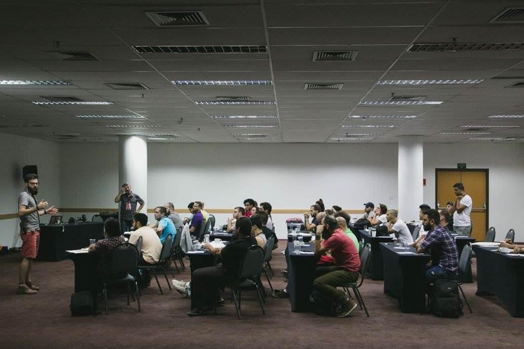 workshop com robison kunz e nei bernardes durante o wedding brasil em sp
