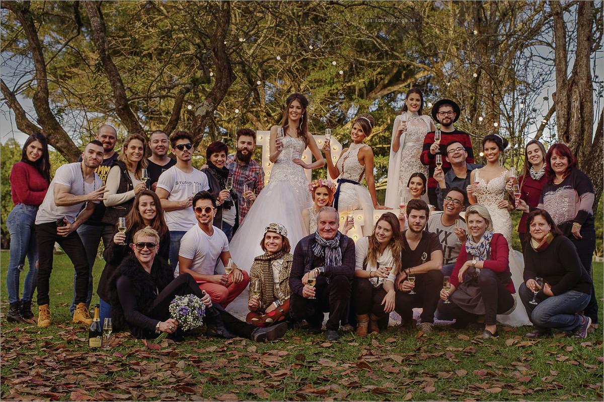 equipe que trabalhou no editorial de noivas para a expansão noivas 2016