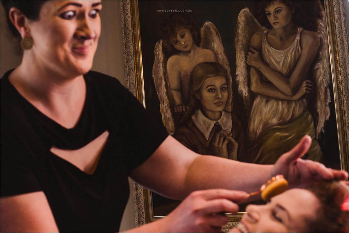 maquiagem da noiva no hote;