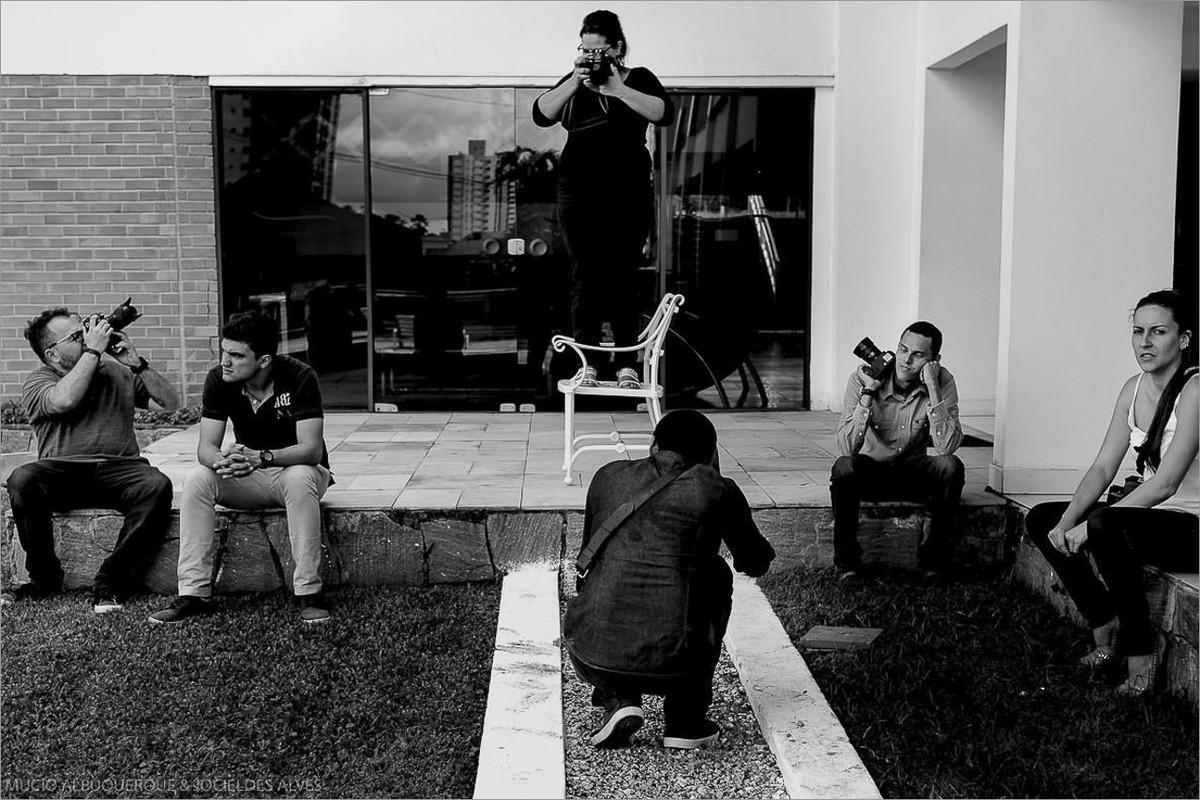 fotografos fotografando durante o curso de robison kunz