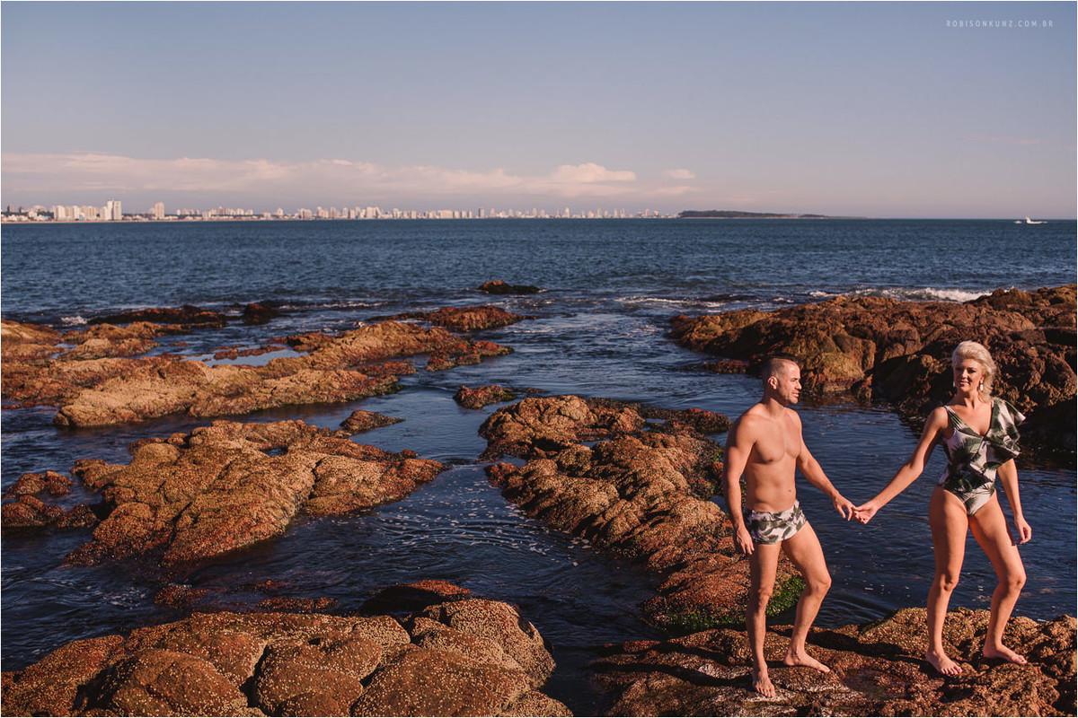 fotos casal praia de punta del este