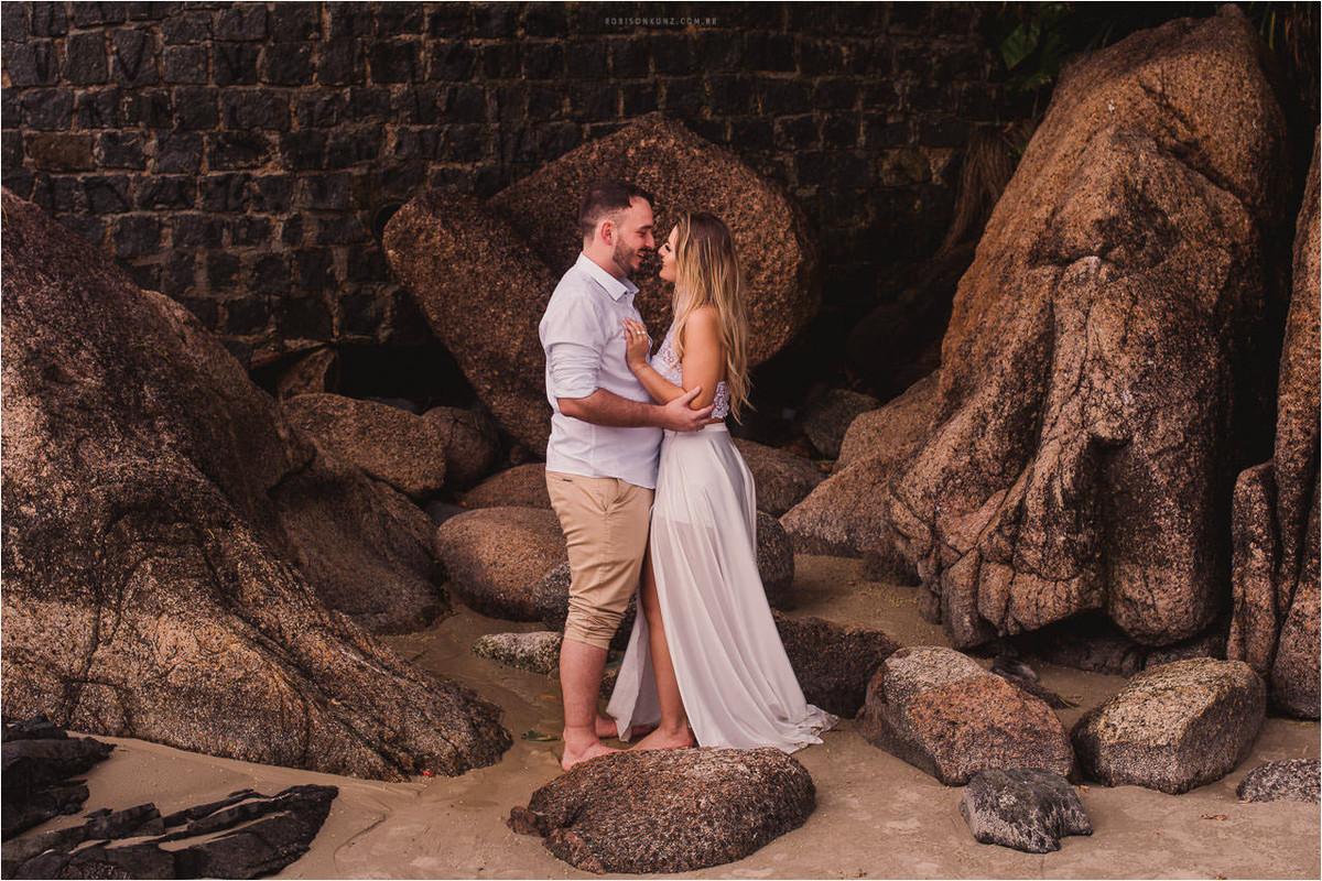 pre-casamento na praia joaquina