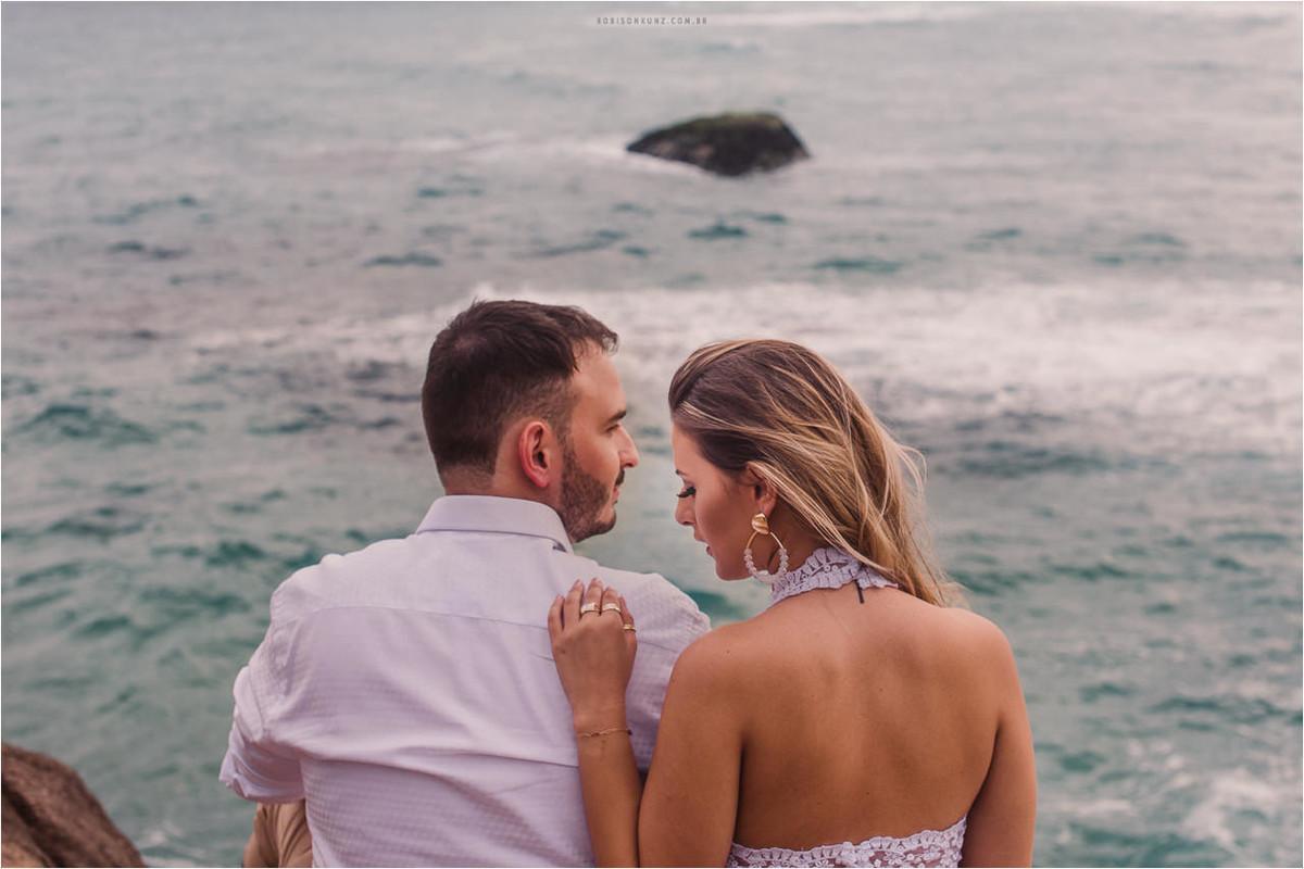 ensaio de noivos na praia da joaquina