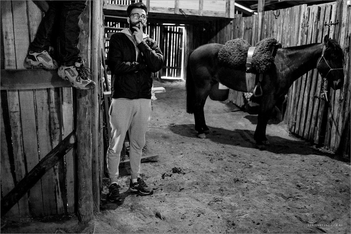 robison kunz fotografando cavalos