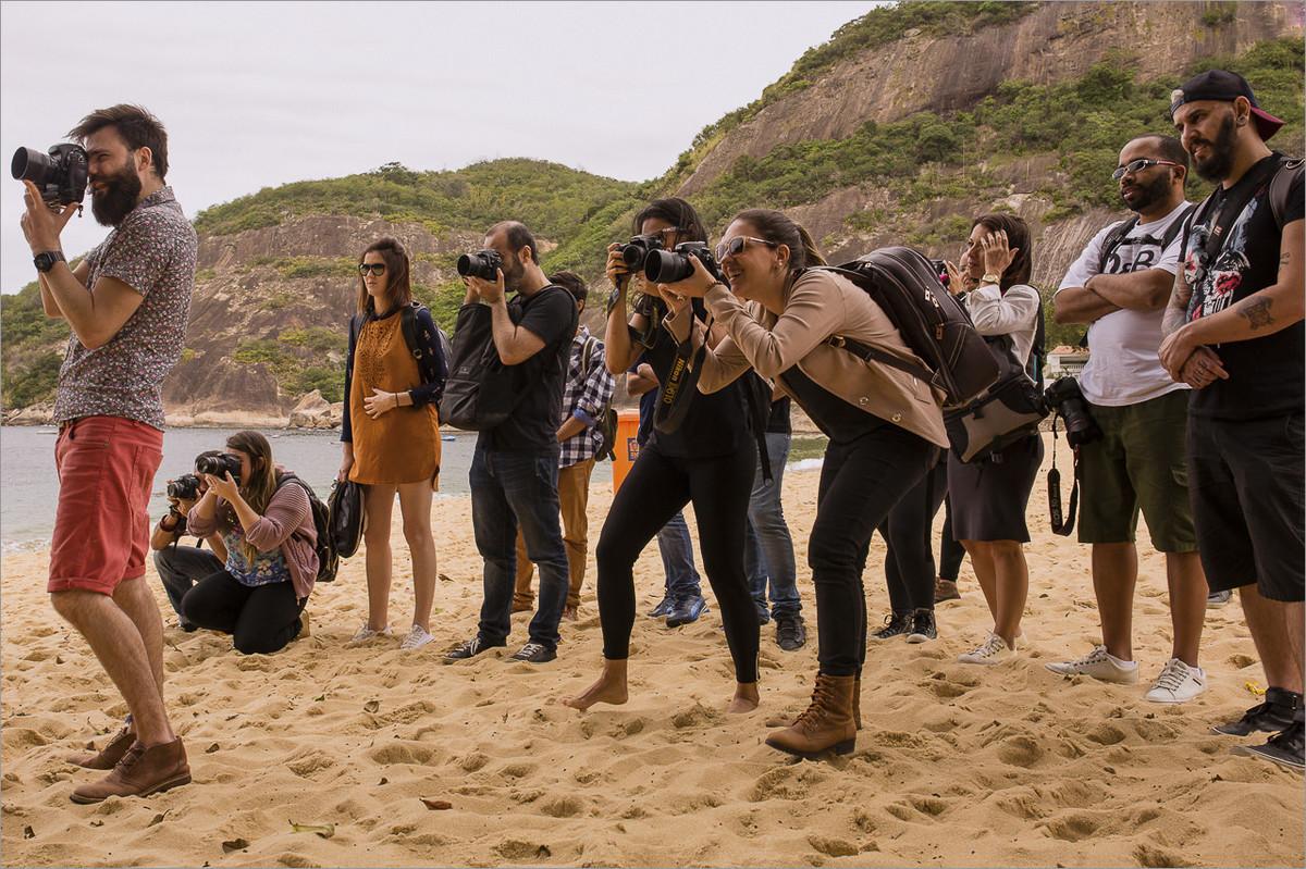 curso de fotografia na praia vermelha