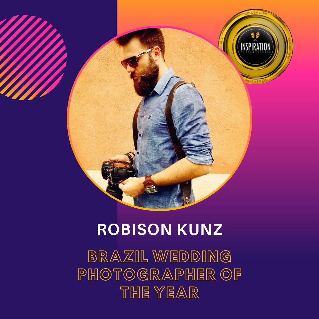 Robison Kunz indicado a lente de ouro 2019, melhor fotografo de casamento do brasil
