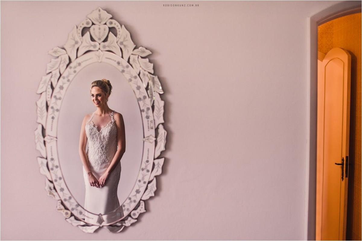 foto de noiva no espelho