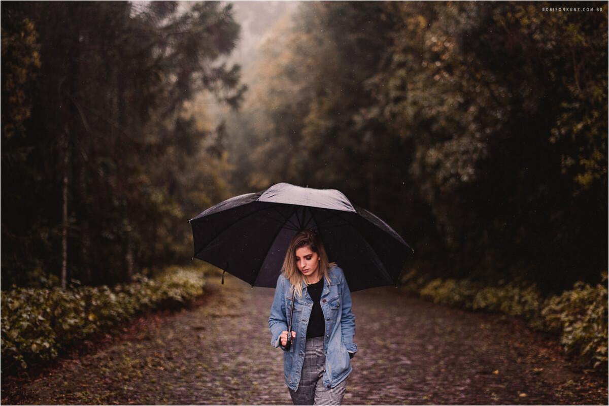 ensaio pessoal na chuva