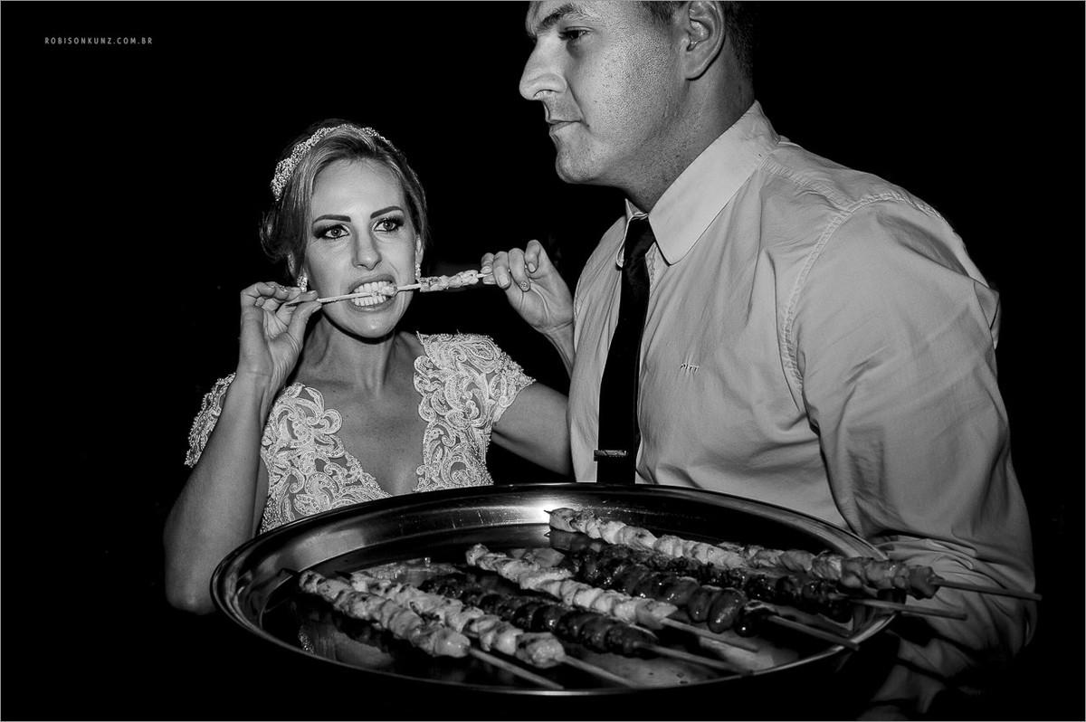 espetinho no casamento