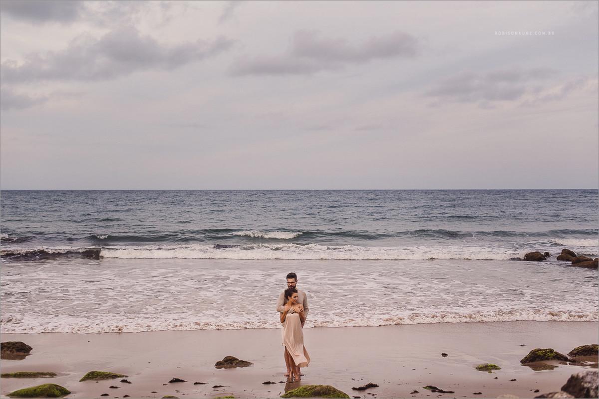 noivos e o mar