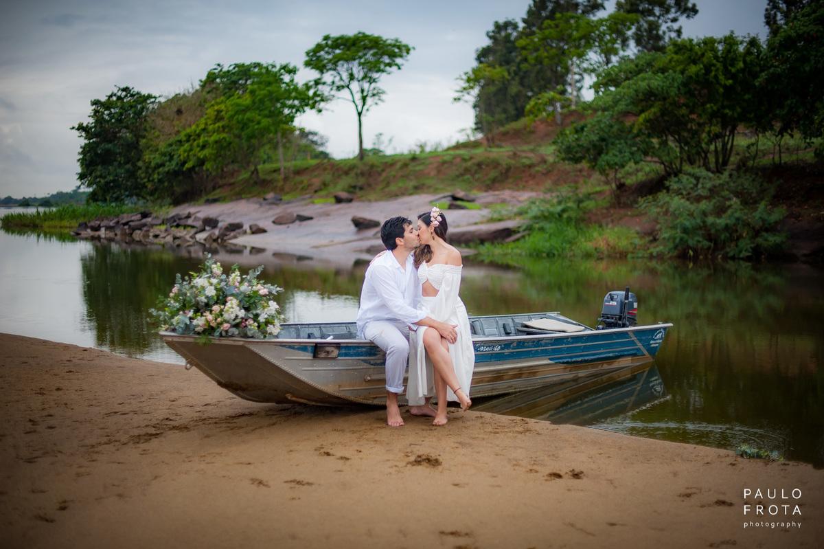 Imagem capa - Poly e Luiz Carlos - Ensaio Pré Wedding Rio Paraiba do Sul por Paulo Frota