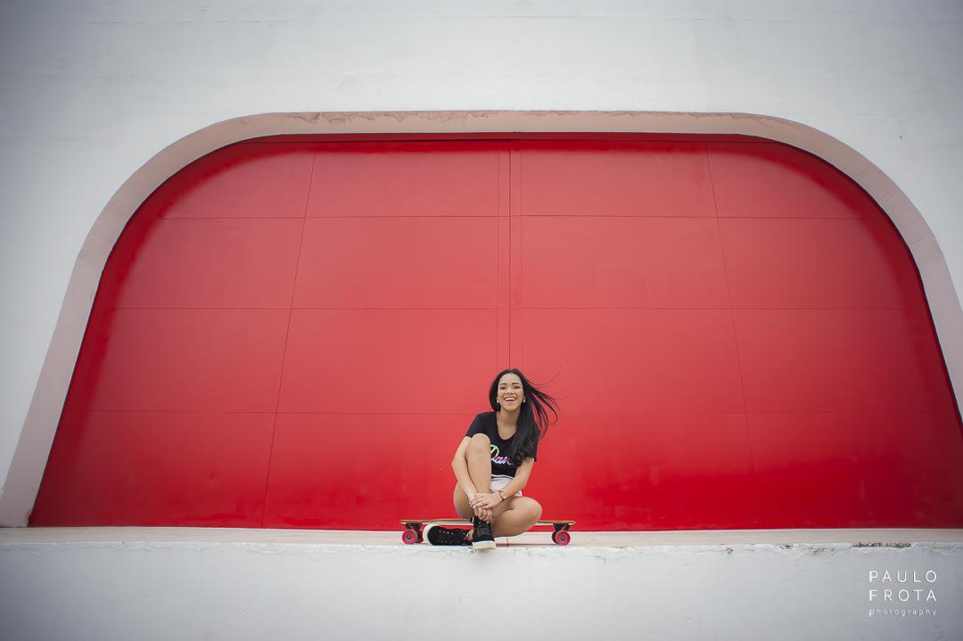 Imagem capa - Ensaio de 15 anos no Teatro Popular Oscar Niemeyer -  Ana Luiza por Paulo Frota