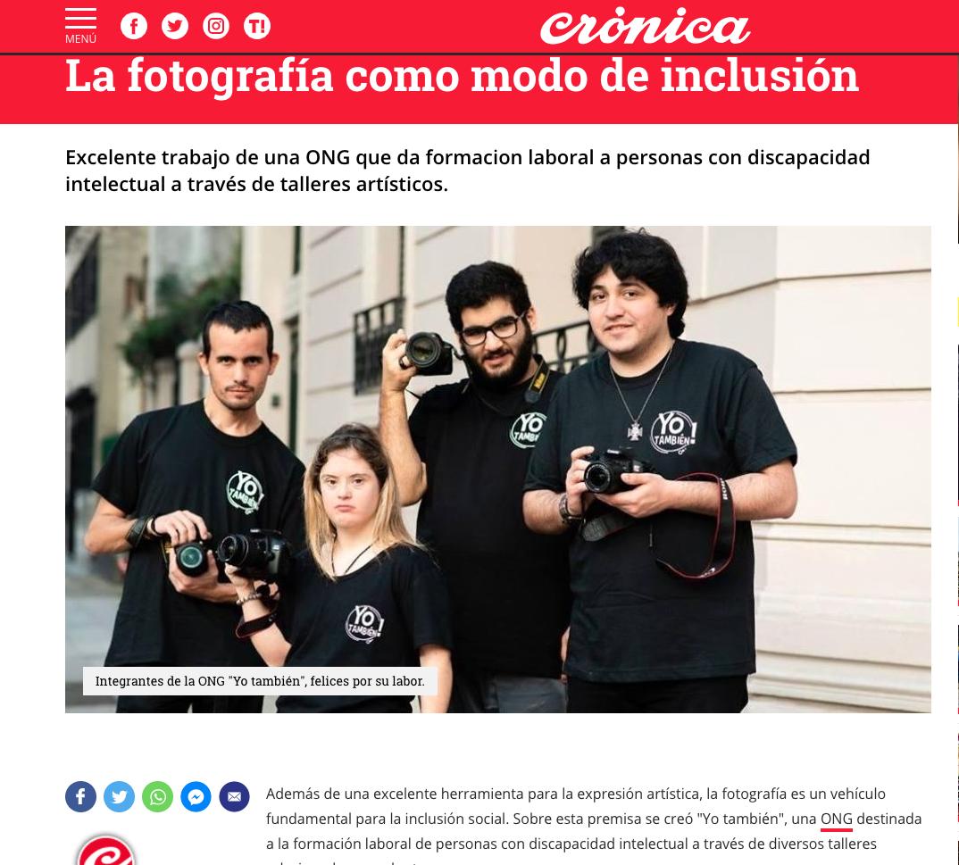 Imagem capa - La fotografía como modo de inclusión por Horacio Carrano
