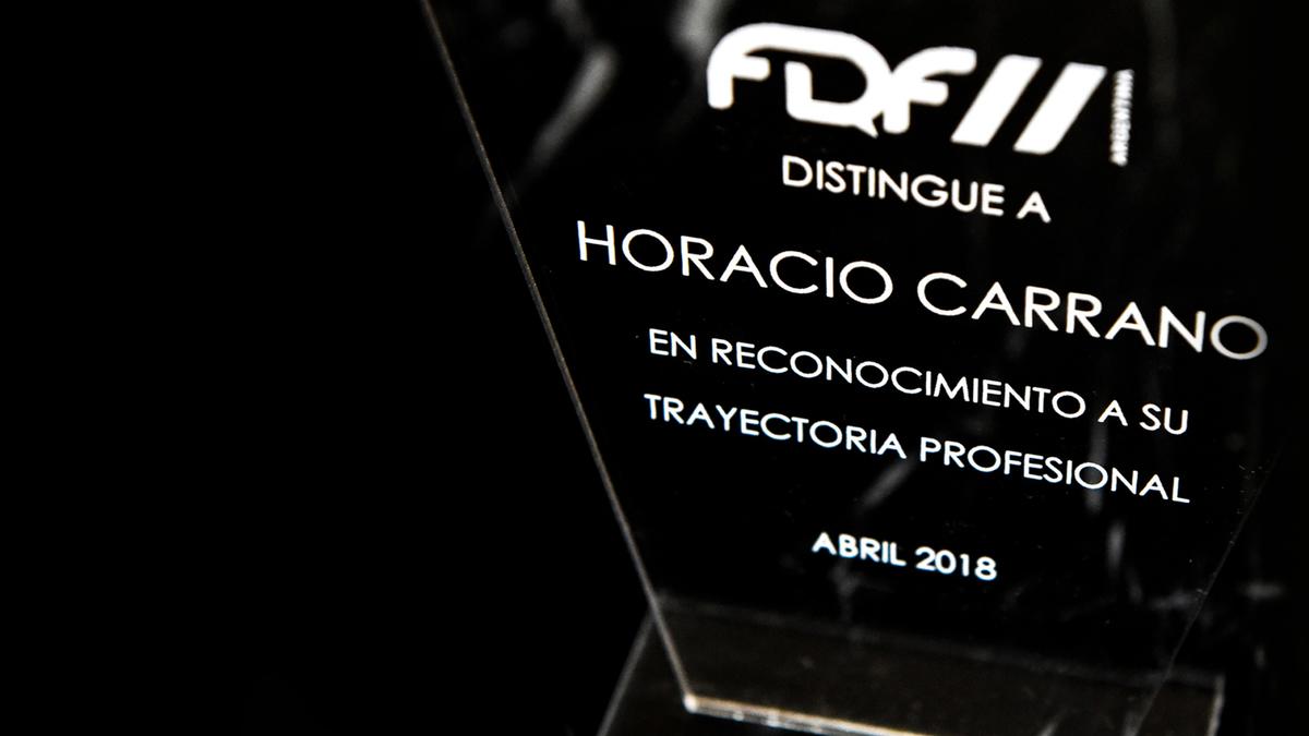 Imagem capa - Reconocimiento a la trayectoria en FDF 2018 por Horacio Carrano