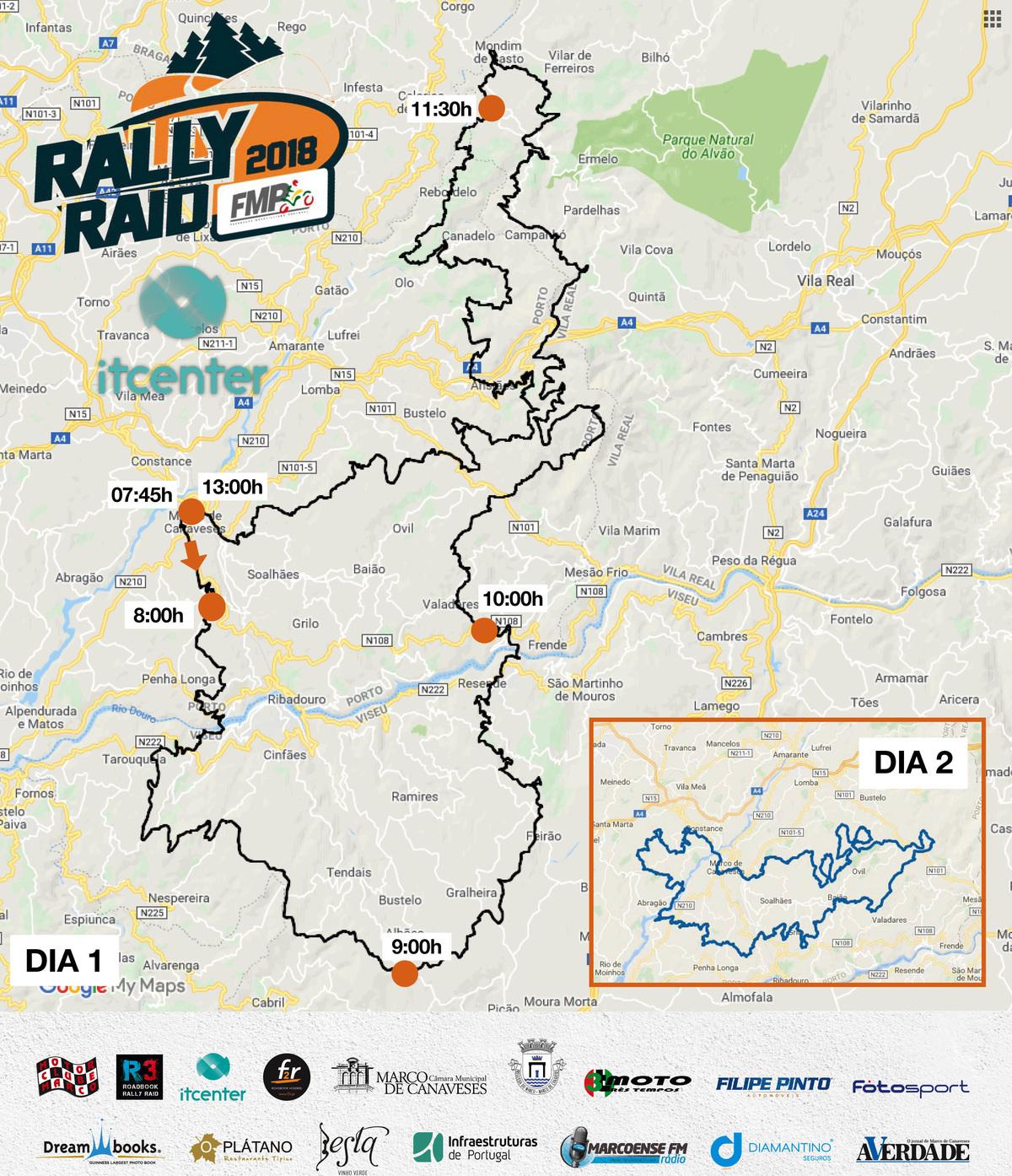 Imagem capa - Veja o horário e o percurso por onde vai passar o Rally Raid Marco de Canaveses 🏁 por Motor Clube do Marco