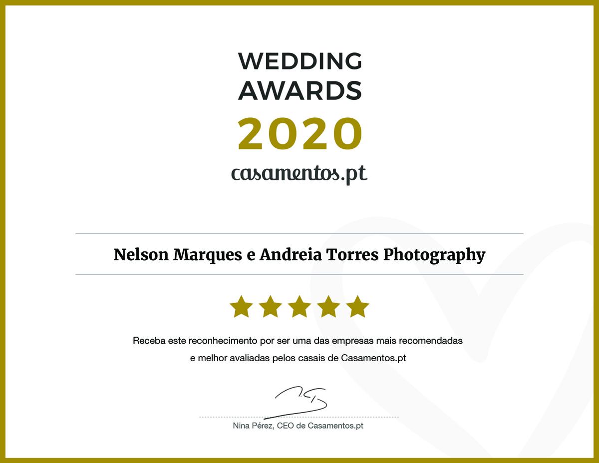 Imagem capa - Wedding Awards 2020 | casamentos.pt por Andreia Torres