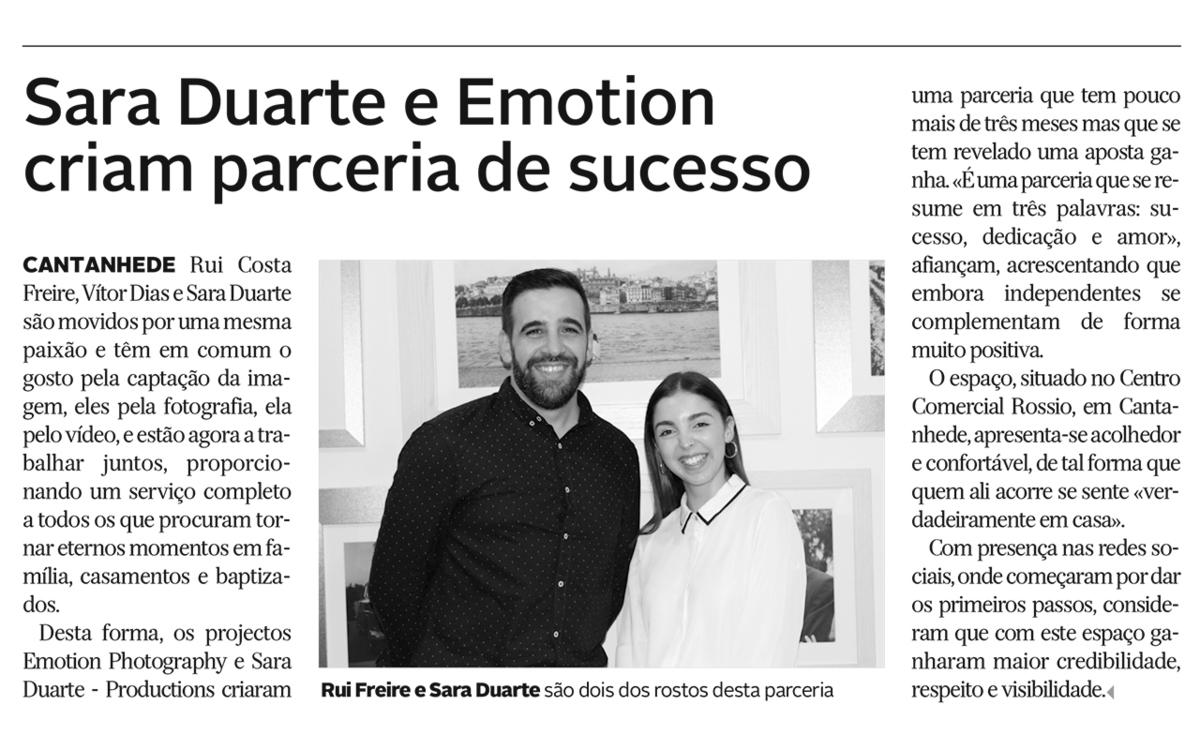 Imagem capa - Parceria de sucesso | Emotion Photography & Sara Duarte productions | Diário de Coimbra | Cantanhede 2019 por Emotion Photography