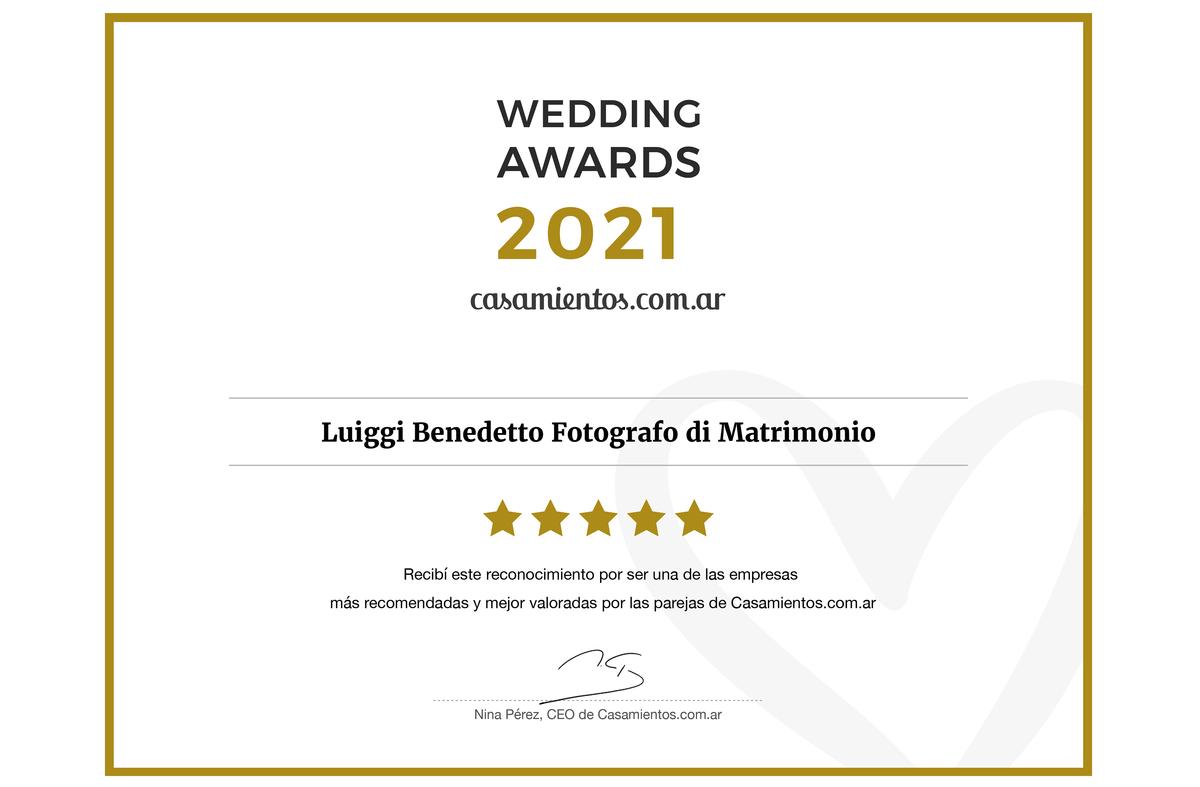 Imagem capa - Ganamos el Premio Wedding Awards 2021 por Luiggi Benedetto