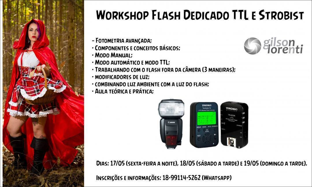 Imagem capa - Workshop de Flash Dedicado TTL por gilson lorenti