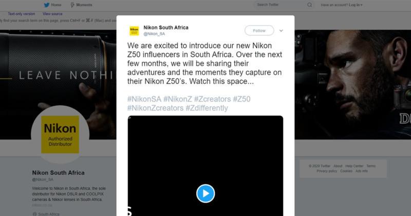 Imagem capa - Nikon causa polêmica racial na Africa do Sul por gilson lorenti