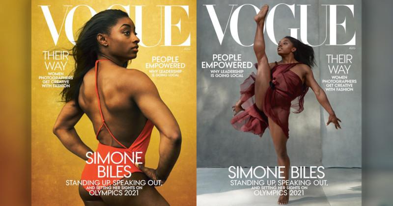 Imagem capa - Simone Biles na capa da Vogue - mas a militância não está feliz por gilson lorenti