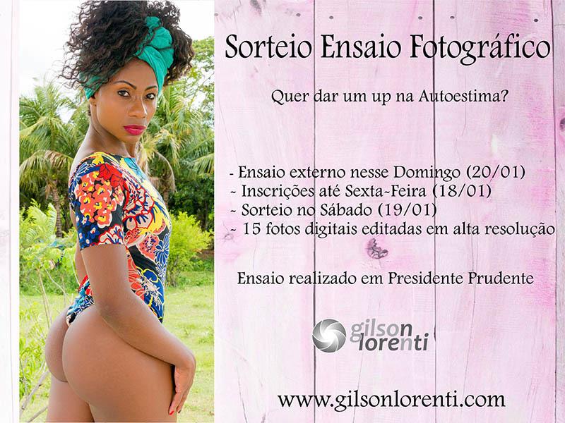 Imagem capa - Sorteio Ensaio Fotográfico - um up na autoestima por gilson lorenti