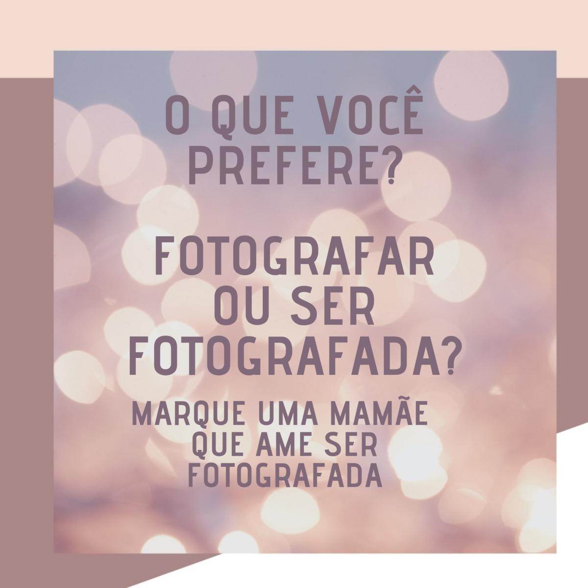 Imagem capa - Amo ser fotografada  por Daniela Lugarinho