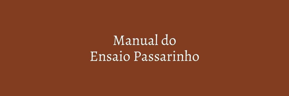 Imagem capa - MANUAL DO ENSAIO PASSARINHO por Marcela Rosa