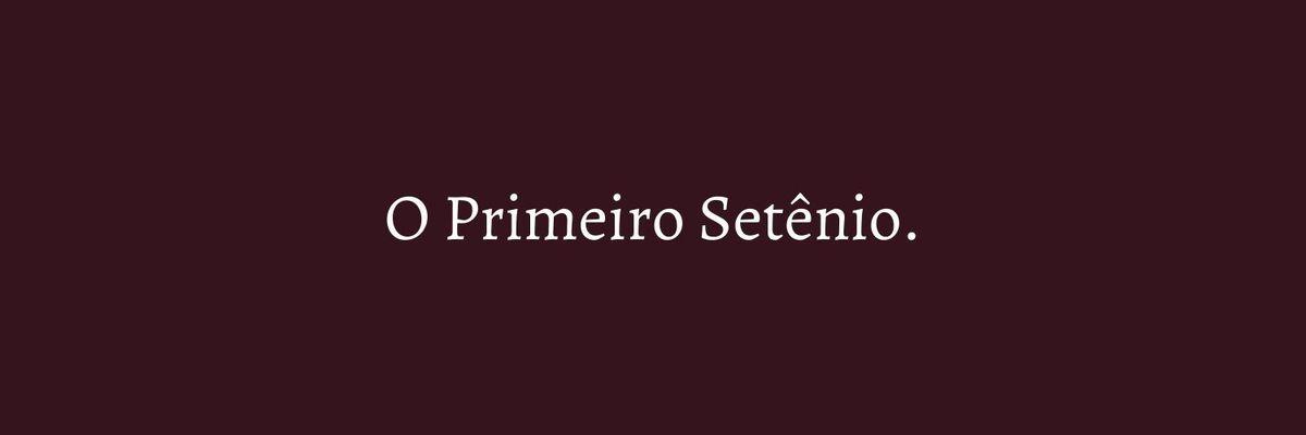 Imagem capa - O PRIMEIRO SETÊNIO por Marcela Rosa