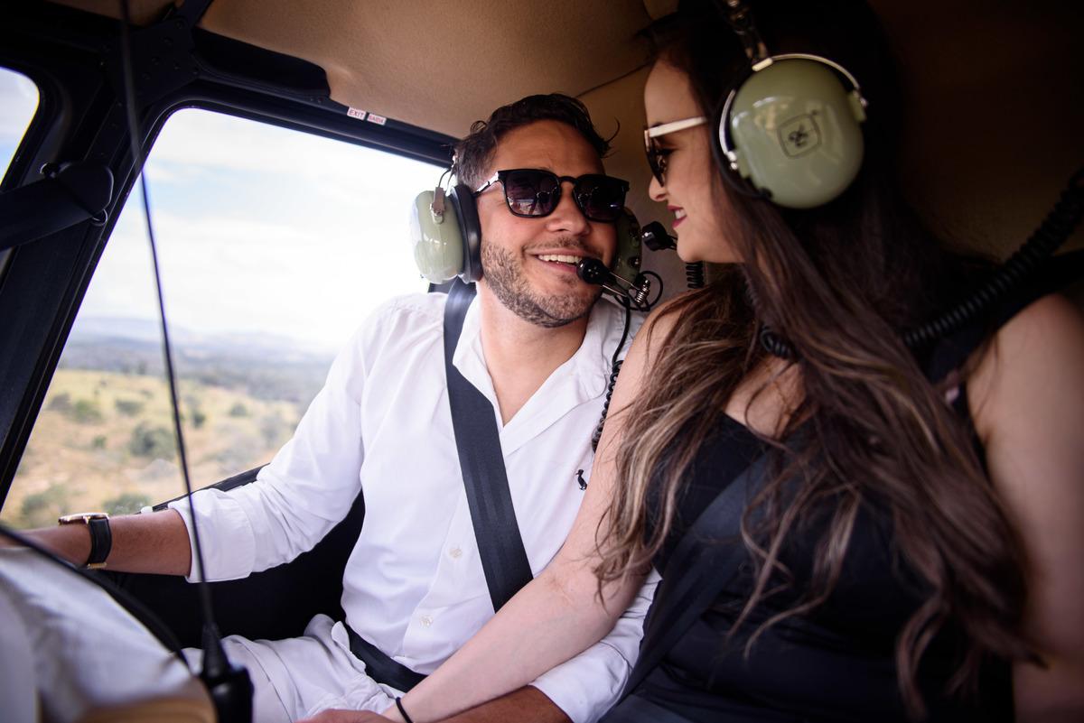 noiva helicoptero