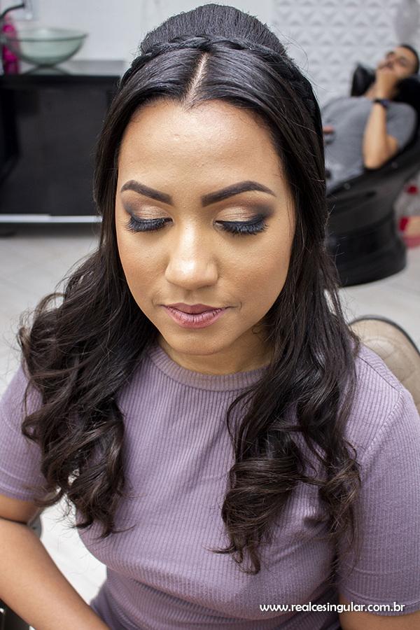 Making off da Noiva, maquiagem e penteado