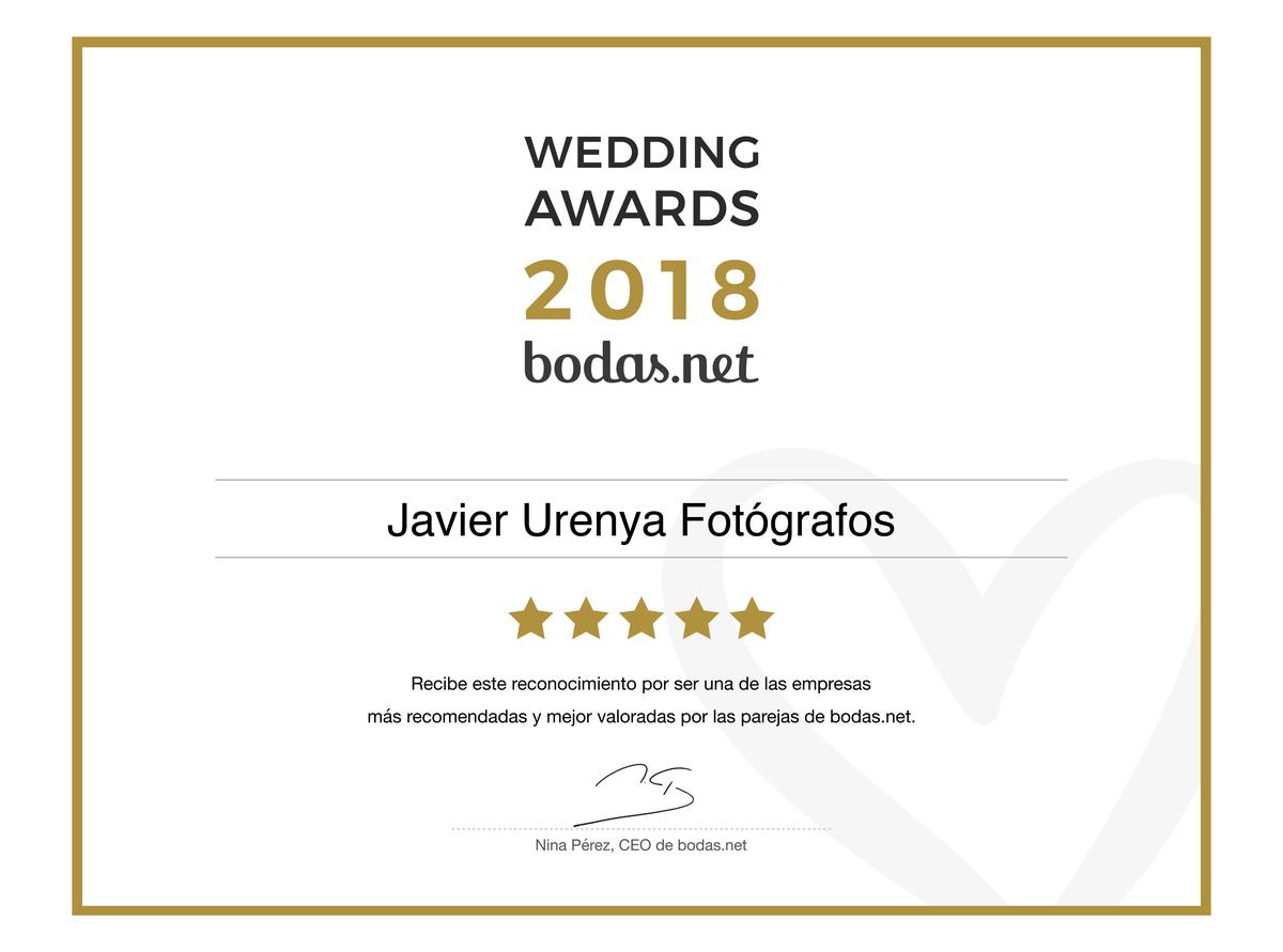 Imagem capa - Urenya fotografía se hace con un Wedding awards 2018 por Javier