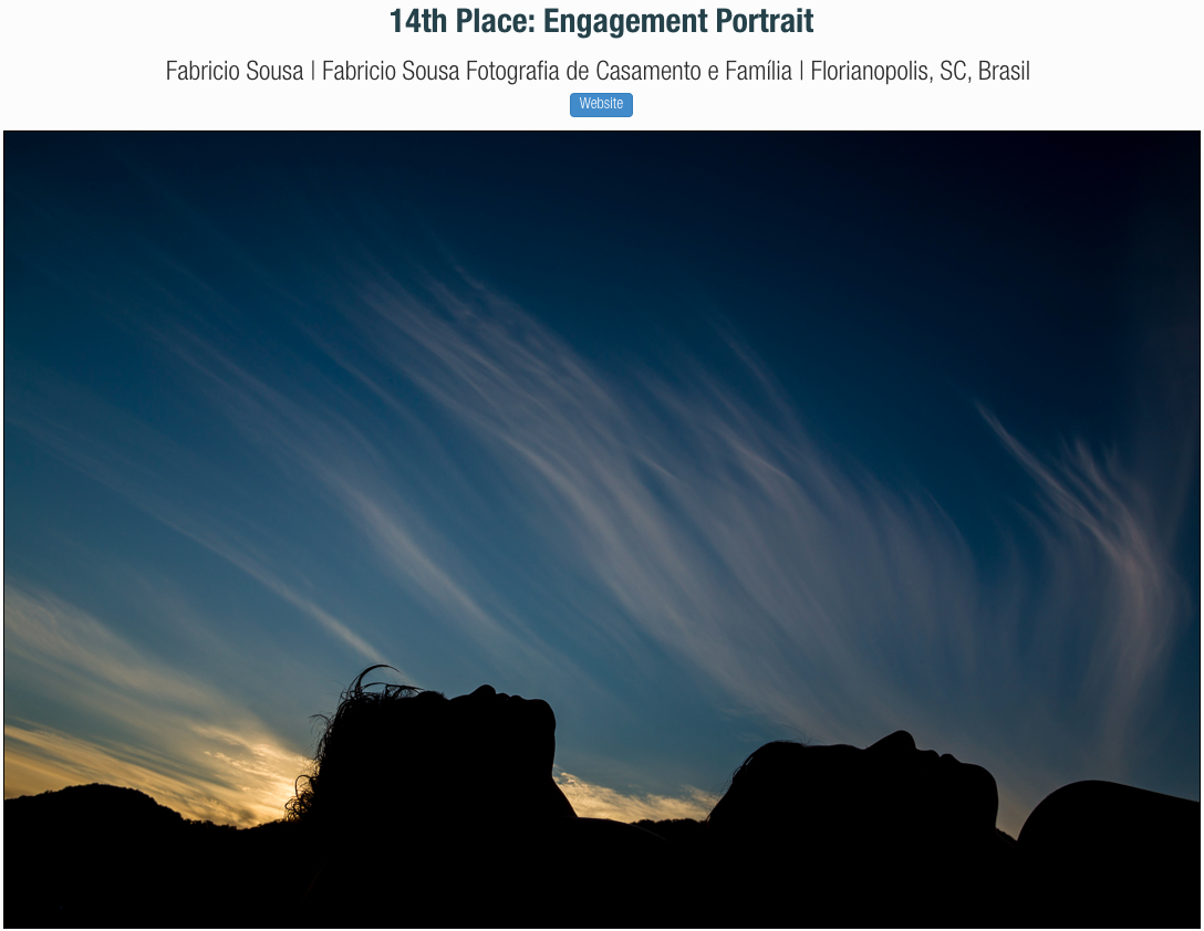 Imagem capa - Foto premiada em sessão pre-casamento por Fabricio Sousa