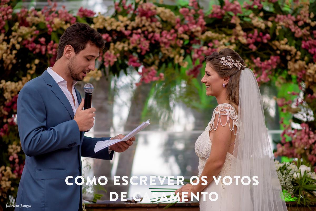 Imagem capa - Como escrever os votos de casamento por Fabricio Sousa