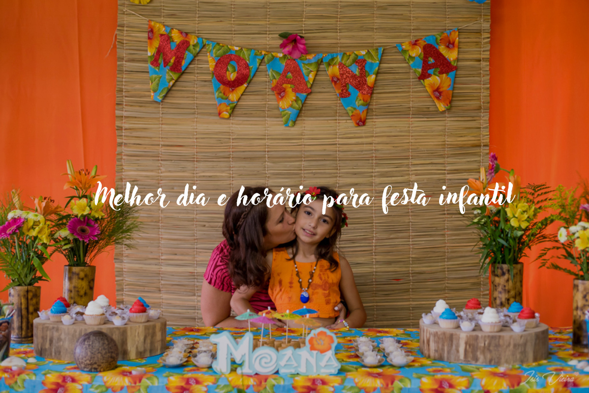 Imagem capa - Melhor dia e horário para festa infantil por Isis Vieira Fotografia