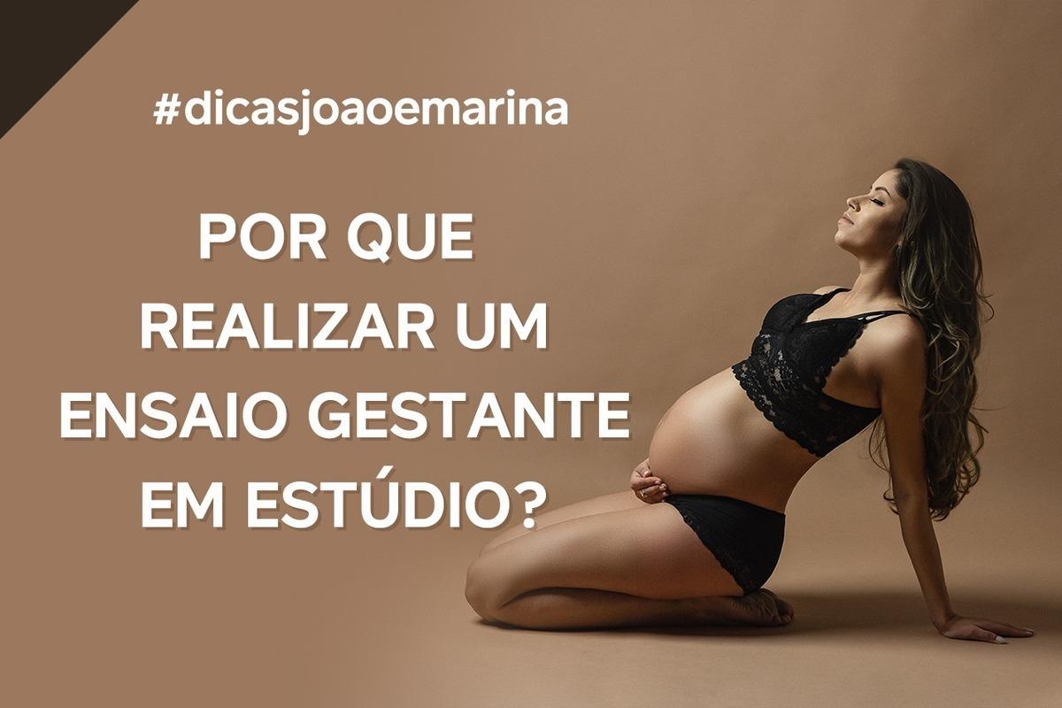 Imagem capa - DICA: POR QUE REALIZAR O ENSAIO GESTANTE EM ESTÚDIO? por João e Marina Fotografia