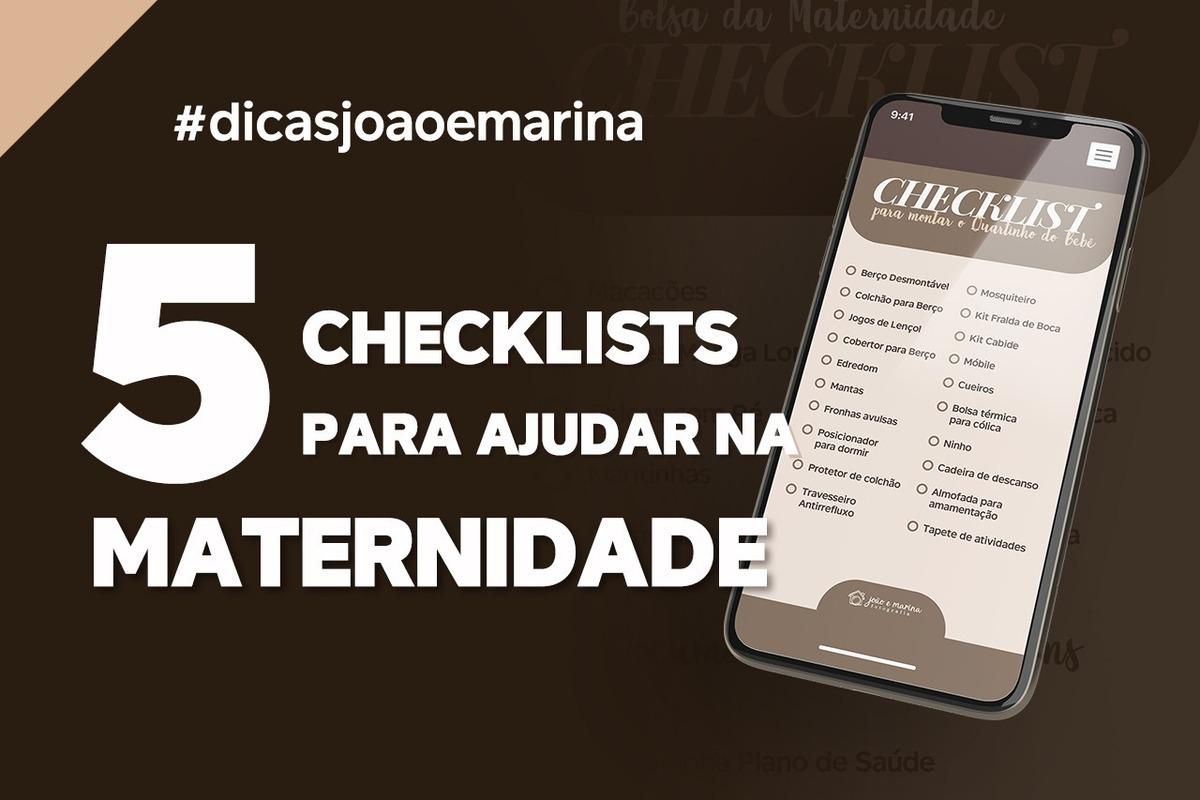 Imagem capa - DICA:  5 CHECKLISTS PARA AJUDAR NA MATERNIDADE por João e Marina Fotografia