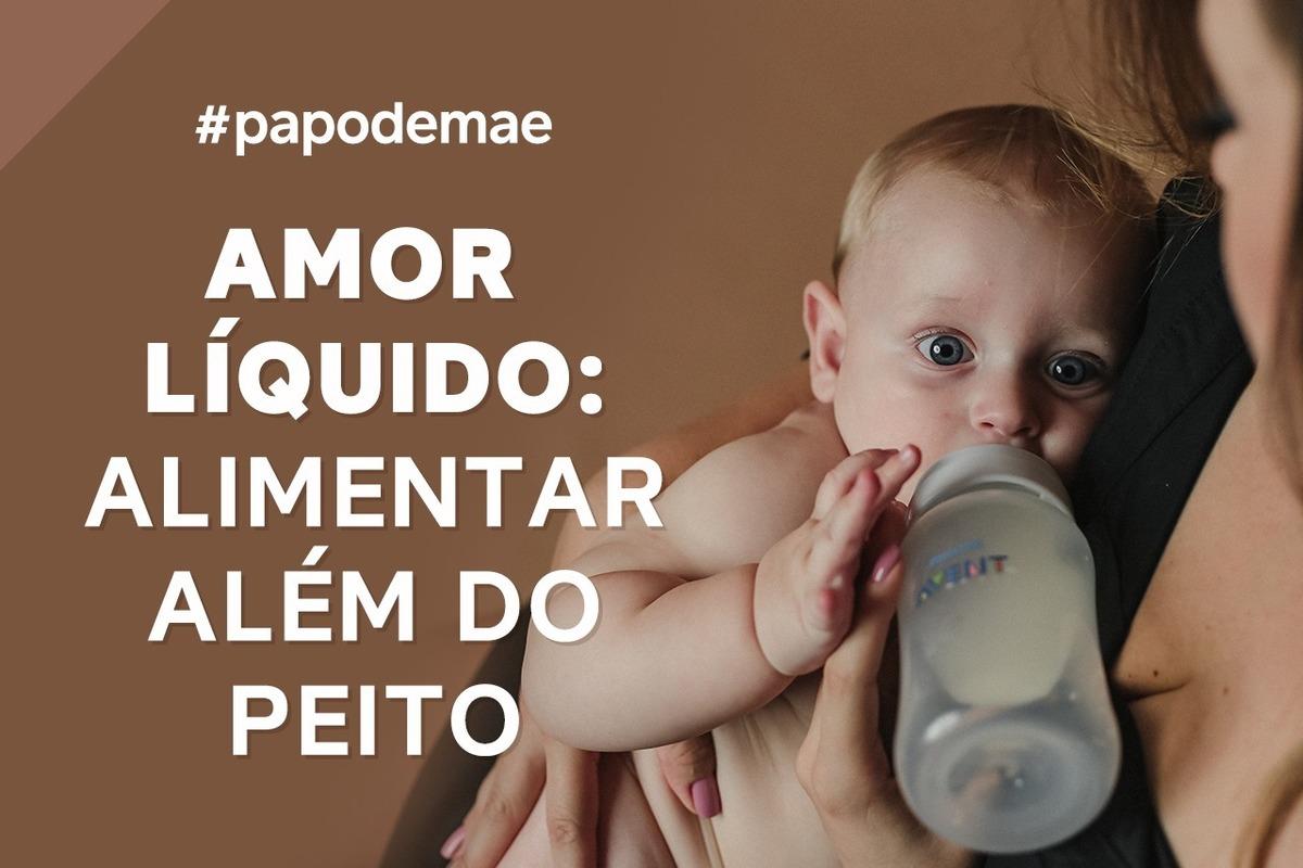 Imagem capa - PAPO DE MÃE: AMOR LÍQUIDO, ALIMENTAR ALÉM DO PEITO por João e Marina Fotografia