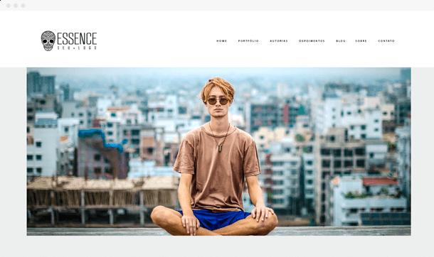 Nosso modelo Essence para fotógrafos que querem exibir seu trabalho de uma forma funcional e criativa
